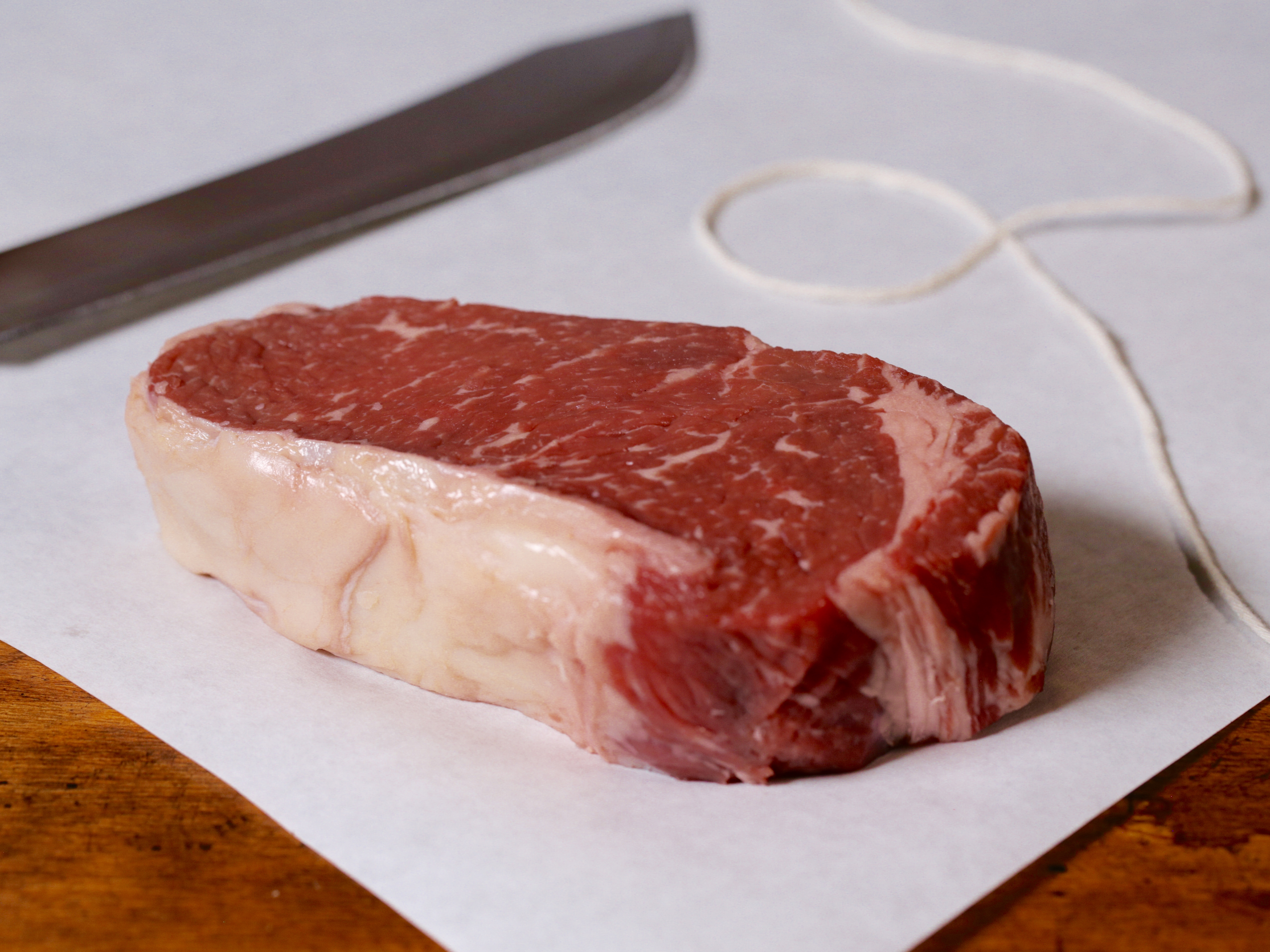Strip steak or ribeye about